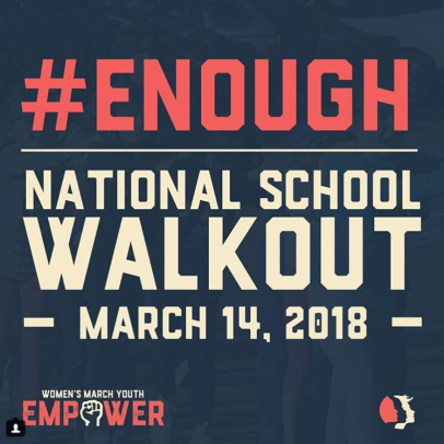 """Screenshot-2018-3-14 Women's March on Instagram """"Enough is enough WomensMarchYouth EMPOWER is calling for students, teacher[...]"""