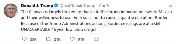 Trump Tweet Border 2
