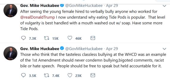 huckabee tweet 1